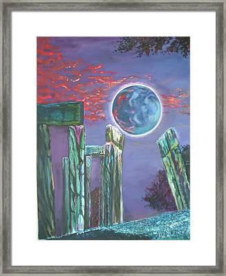 Lonely Night Framed Print by Joanna Soh