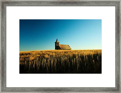 Lonely Old Church Framed Print by Todd Klassy