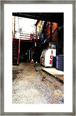 Framed Print featuring the photograph Lonely Passage by Cyryn Fyrcyd