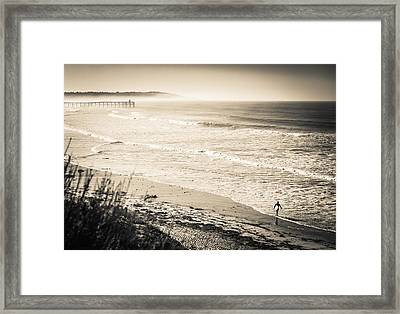 Lonely Pb Surf Framed Print by Brian Jones