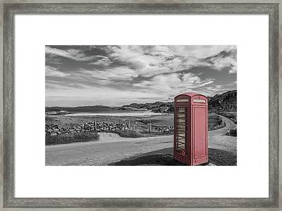 Lonely Phone Framed Print