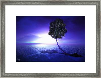 Lonely Pine Framed Print by Monroe Snook