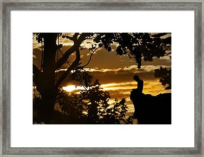 Lonely Prayer Framed Print