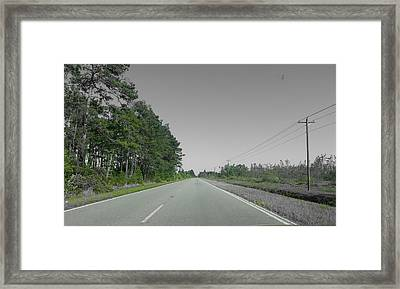 Lonely Road Framed Print by Chris Short