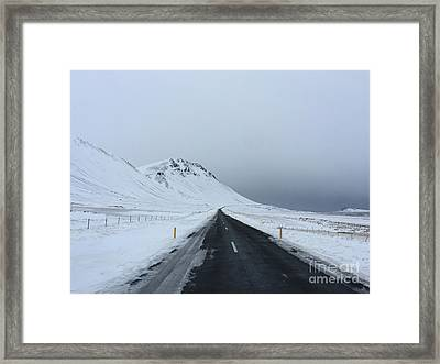 Lonely Road On Snaefellsnes Peninsula Framed Print