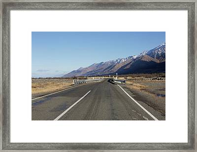 Lonely Roads Framed Print
