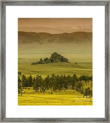 Lonely Rock Framed Print by Dennis Wagner