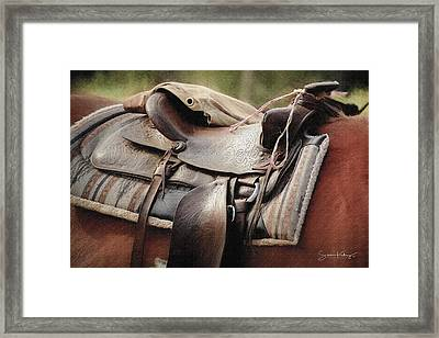 Lonely Saddle  Framed Print