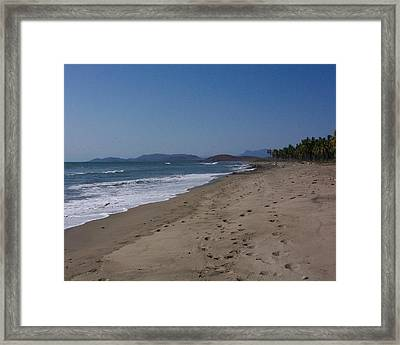 Lonely Sand Framed Print by James Johnstone