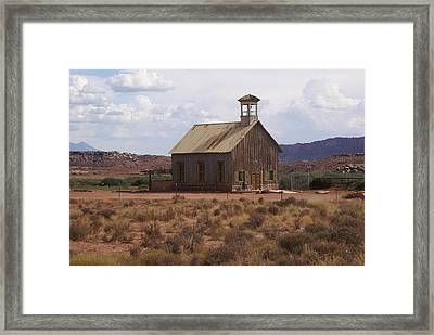 Lonely Schoolhouse Framed Print by Marty Koch