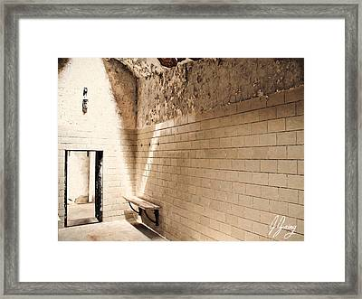 Lonely Seat Framed Print by Joshua Zaring