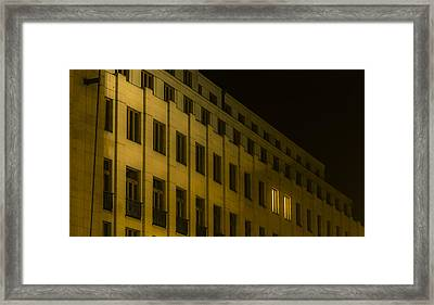 Lonely Shining Office Framed Print by Marek Boguszak