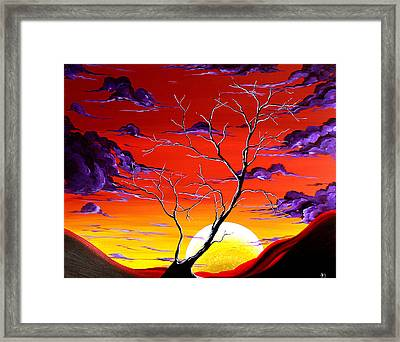 Lonely Soul By Madart Framed Print by Megan Duncanson