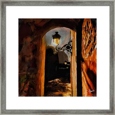 Lonely Street Framed Print