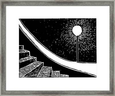 Lonely Streetlight Framed Print by Ann Giorgi