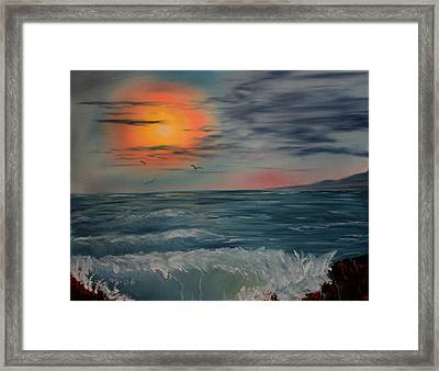 Lonely Sunset Framed Print by Larry Hamilton
