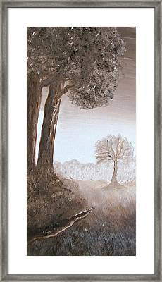 Lonely Trees Framed Print