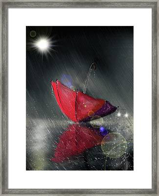 Lonely Umbrella Framed Print