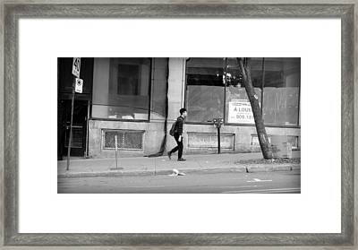 Framed Print featuring the photograph Lonely Urban Walk by Valentino Visentini