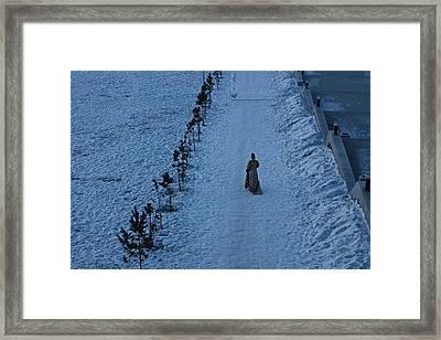 Lonely Walk/tsagaan Sar Framed Print