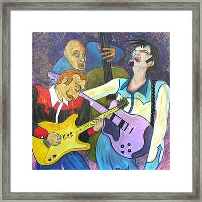 Lonesome Blues Framed Print by Todd  Peterson