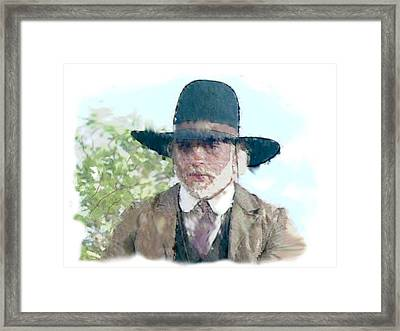 Lonesome Dove Call Water Color  Return To Dove Framed Print by Peter Nowell
