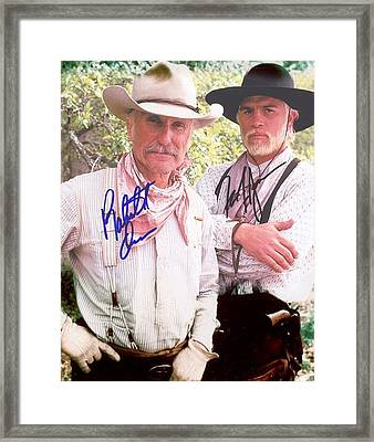 Lonesome Dove Gus And Call Colorsigned Print Framed Print by Peter Nowell