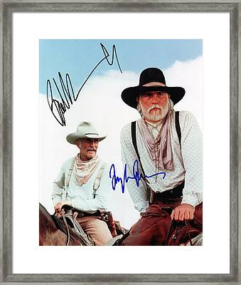 Lonesome Dove Gus And Call Signed Print Framed Print by Peter Nowell