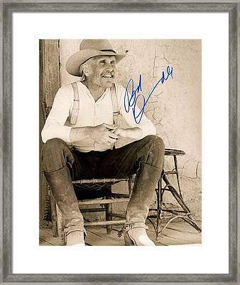 Lonesome Dove Gus Signed Print Framed Print by Peter Nowell
