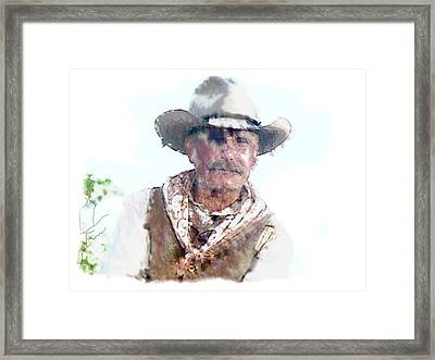 Lonesome Dove Gus Water Color  Framed Print by Peter Nowell