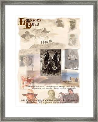Lonesome Dove Poster Framed Print by Peter Nowell
