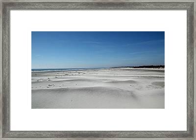 Lonesome Dunes Framed Print by Rosanne Jordan