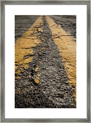 Lonesome Highway Framed Print by Edward Fielding