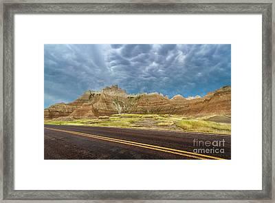 Lonesome Highway Framed Print