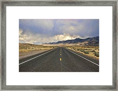 Lonesome Highway Framed Print by Nick Roberts