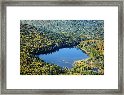Lonesome Lake - White Mountains New Hampshire Usa Framed Print by Erin Paul Donovan