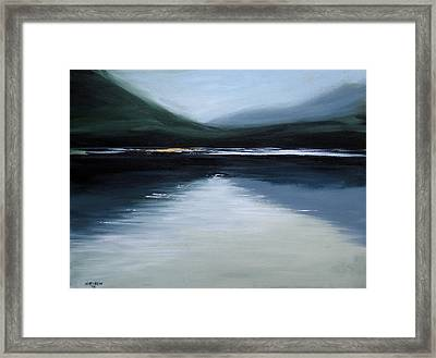 Lonesome Lake Framed Print
