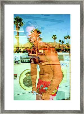 Lonesome Launderer Palm Springs Framed Print by William Dey