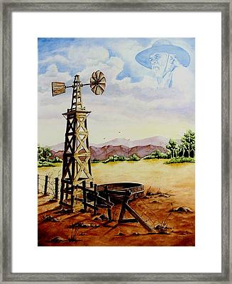 Lonesome Prairie Framed Print