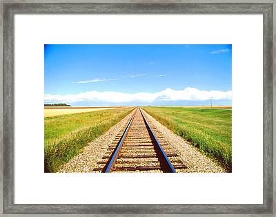 Lonesome Railroad Framed Print