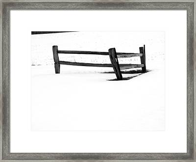Lonesome Snow Framed Print by Michael L Kimble
