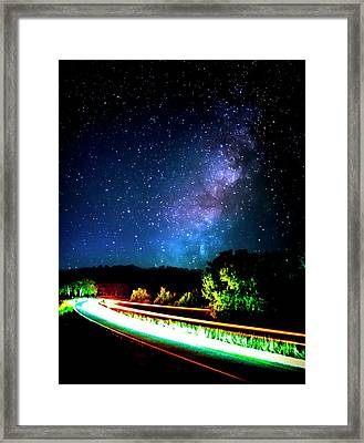 Lonesome Texas Highway Framed Print