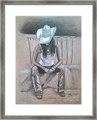 Lone Star Lady Framed Print