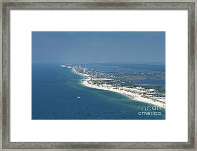 Long, Aerial, Beach View Framed Print