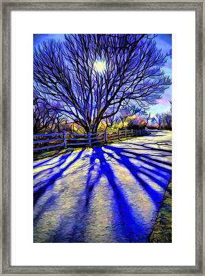 Long Afternoon Shadows Framed Print