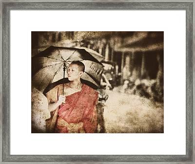 Long Ago In Luang Prabang Framed Print