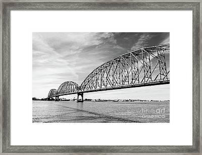 Long-allen Bridge Morgan City Framed Print