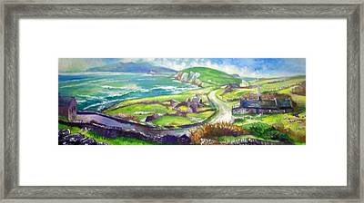 Framed Print featuring the painting Long And Winding Road by Paul Weerasekera