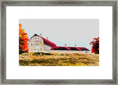 Long Barn Framed Print by Ryan Burton
