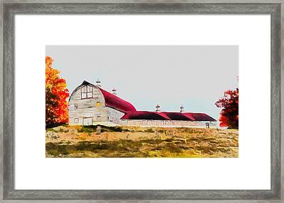 Long Barn Framed Print